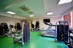 Gym at the Solo Sokos Hotel Vasilievsky in St. Petersburg