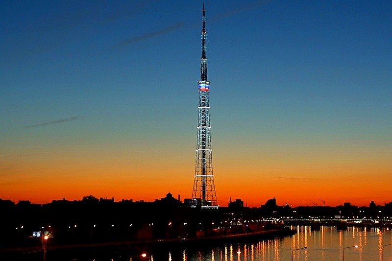 St. Petersburg TV Tower - one of the highlights of Aptekarsky Island in St Petersburg, Russia