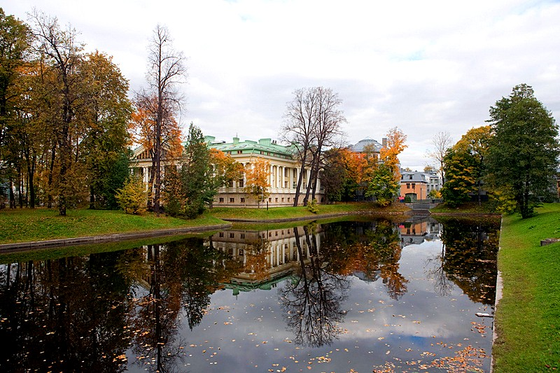 Autumn on Kamenny Island (Stony Island) in St Petersburg, Russia