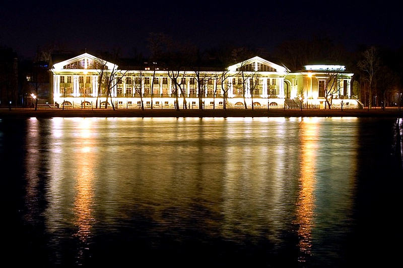 Kamenny Island at night in St Petersburg, Russia