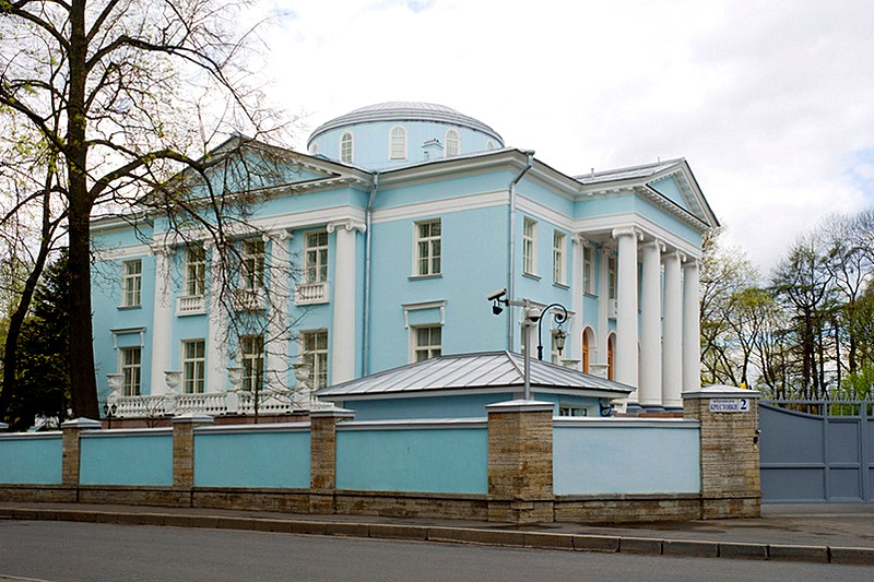 Vurgaft House (Blue Dacha) on Stony Island in St Petersburg, Russia
