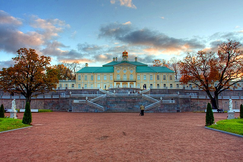 Grand Menshikov Palace - perhaps the most impressive landmark of Oranienbaum, west of St. Petersburg, Russia