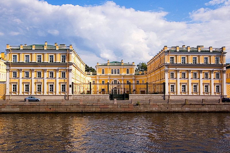 Gavrila Derzhavin Villa on the Fontanka River Embankment in St Petersburg, Russia