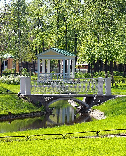 Polish Garden at the Derzhavin Villa in Saint-Petersburg, Russia