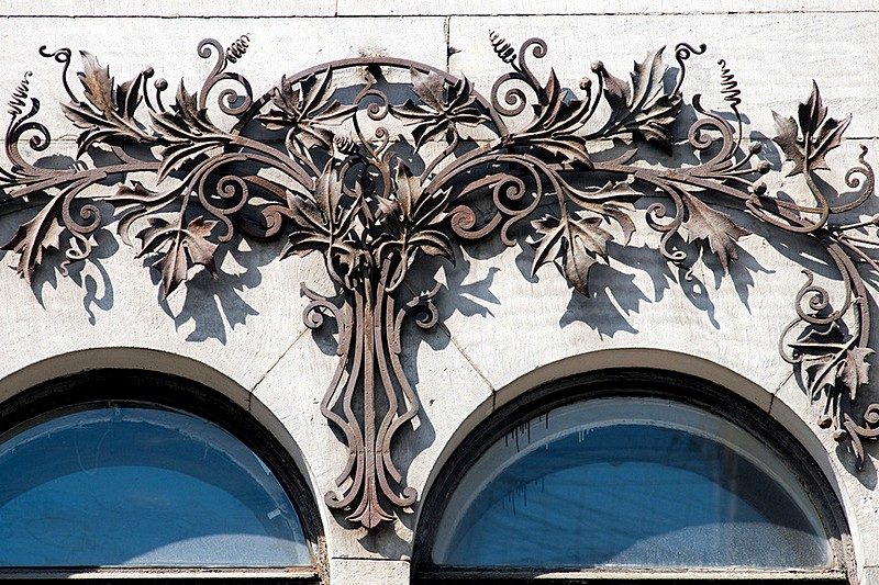 Art Nouveau decorationations on the Nabokov House in St Petersburg, Russia