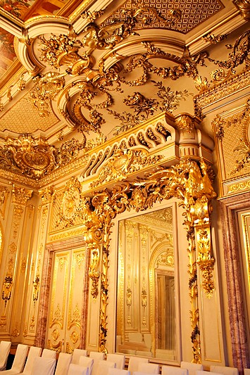 Details of Interior of the Polovtsov Mansion in St Petersburg, Russia