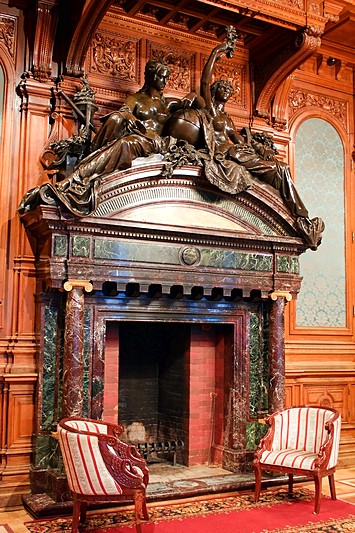 Fireplace of the Polovtsov Mansion in St Petersburg, Russia