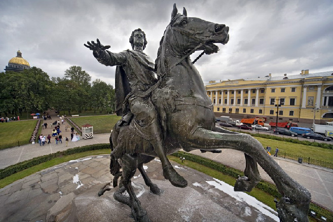 The Bronze Horseman - St. Petersburg's most famous monument, Russia