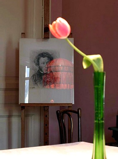 One of the exhibits in the Museum-Apartment of Anna Akhmatova in Saint-Petersburg, Russia