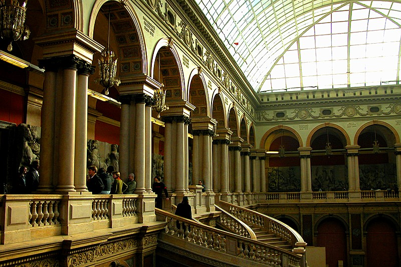 Main hall of the Stieglitz Applied Arts Museum in St Petersburg, Russia