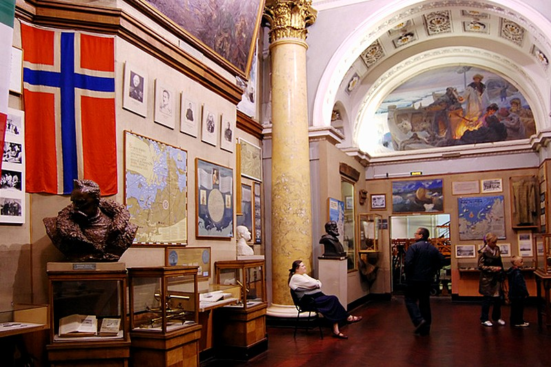 Exhibits at the Arctic and Antarctic Museum in St Petersburg, Russia