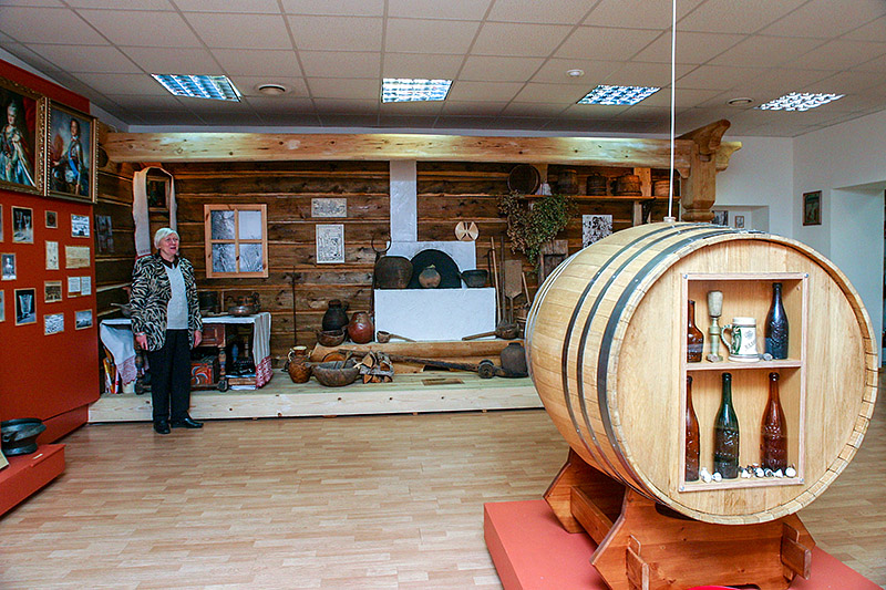 Exhibits of the Beer Museum at Stepan Razin Brewery in St Petersburg, Russia