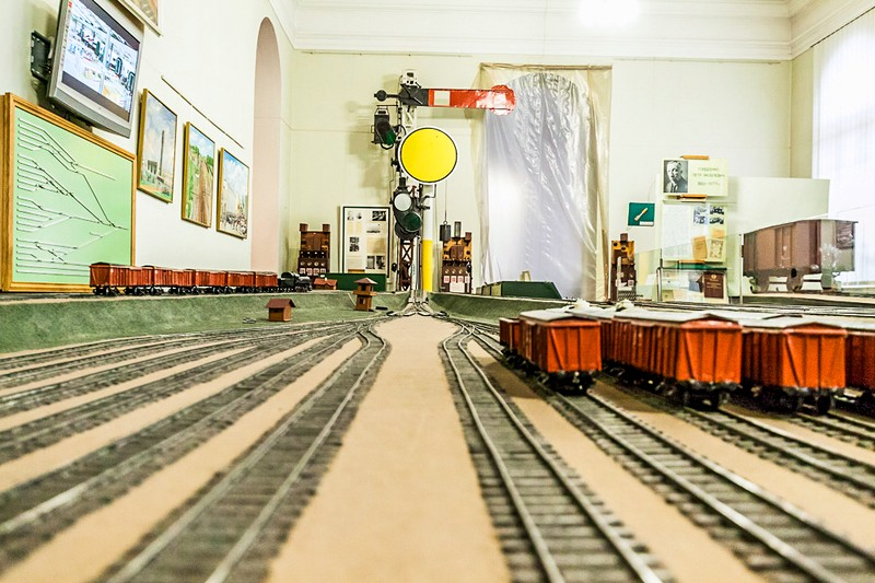 Models of engines and wagons in Saint-Petersburg, Russia