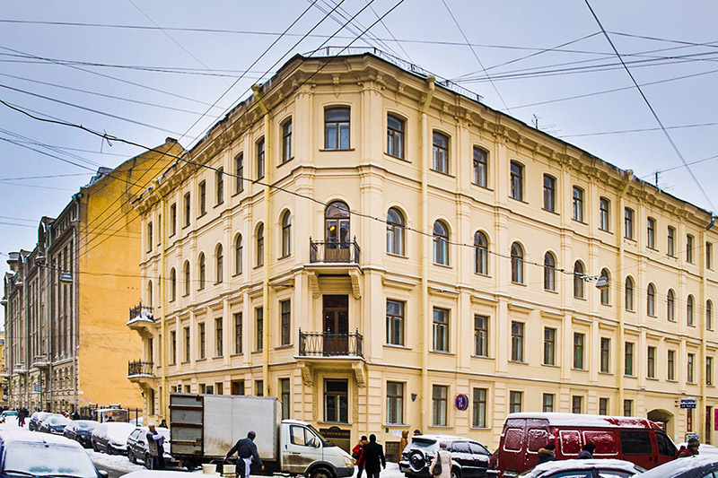 The building housing the Dostoevsky Apartment-Museum in St Petersburg, Russia