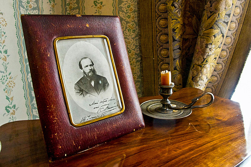 Portrait of Dostoevsky in his Apartment-Museum in St Petersburg, Russia