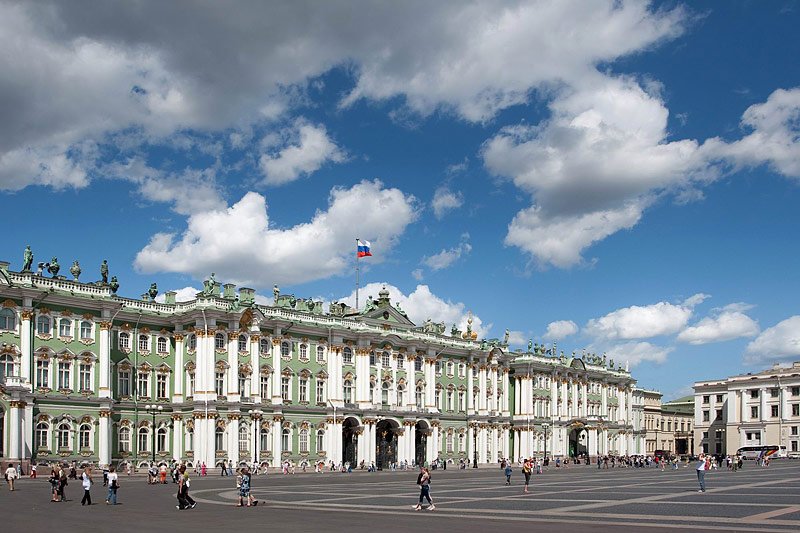 State Hermitage Museum as seen from Palace Square in St. Petersburg, Russia