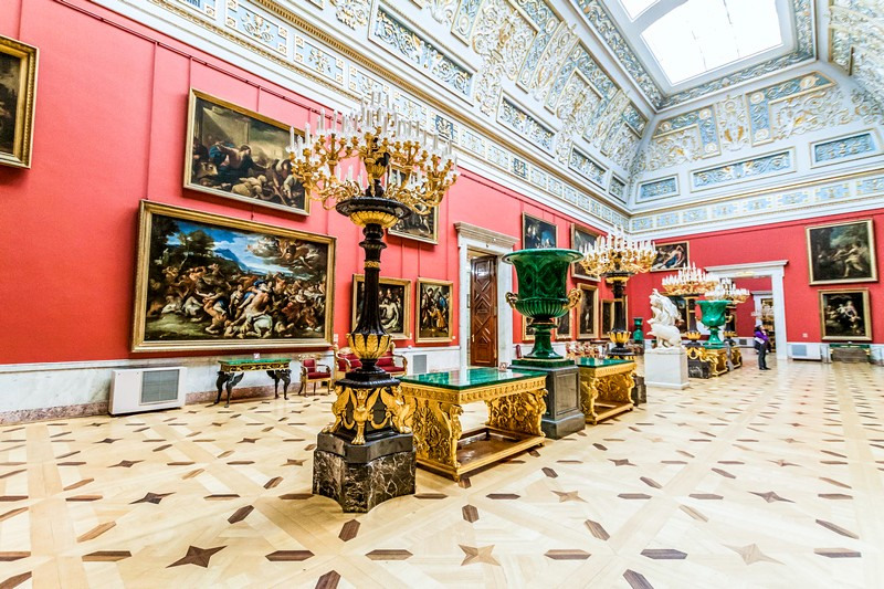 Interiors of the Hermitage Museum in Saint-Petersburg, Russia