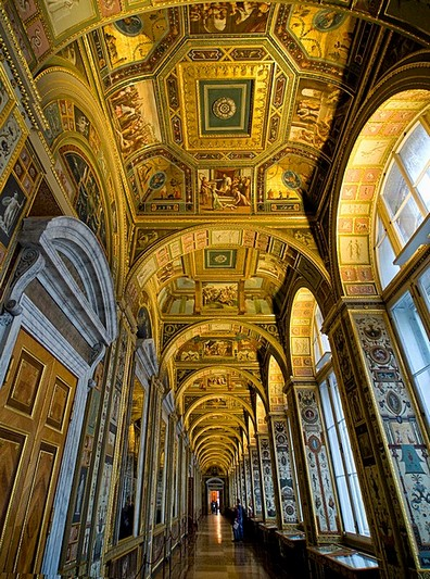 Rafael Loggias - copy of historic interiors of the Vatican at the Hermitage Museum in St Petersburg, Russia