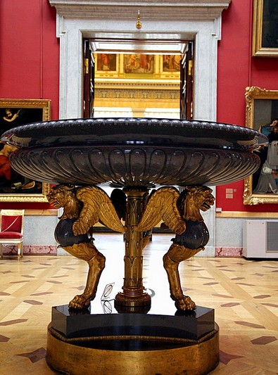 Vase in the Spanish Hall at the Hermitage Museum in St Petersburg, Russia