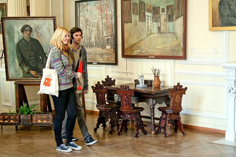 Inside the Isaac Brodsky Apartment Museum in St Petersburg, Russia