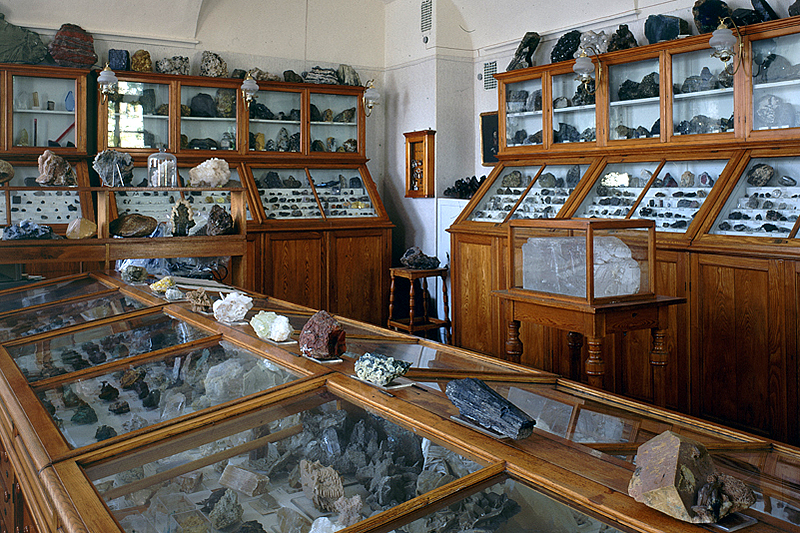 Collection of Mineralogical Museum in St Petersburg, Russia