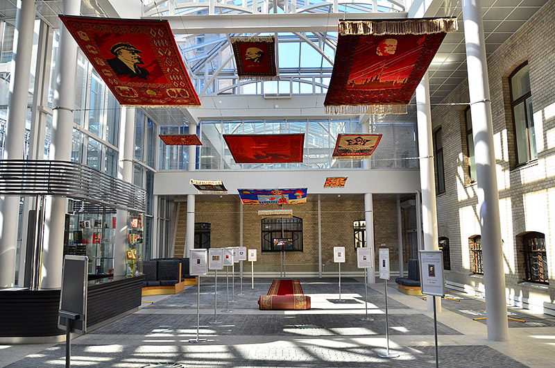 Atrium of the Museum of Political History in St Petersburg, Russia