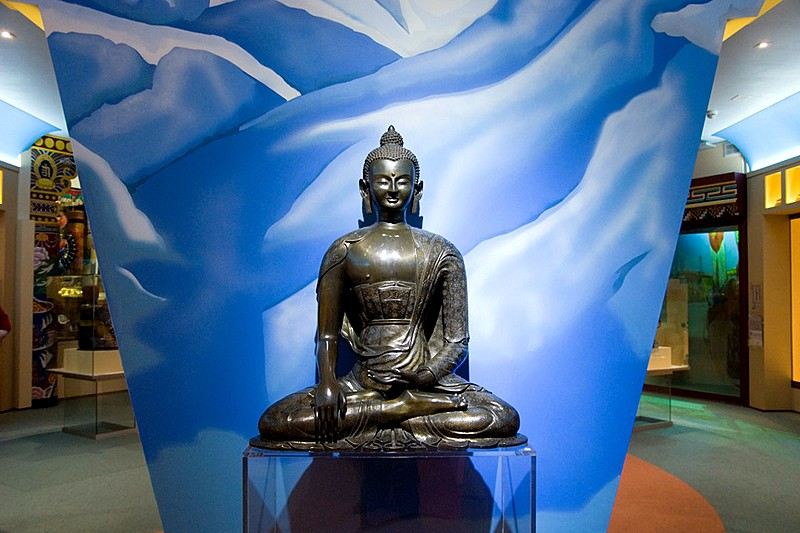 Statue of Buddha in the Eastern Religions section of the Museum of the History of Religion in St Petersburg, Russia