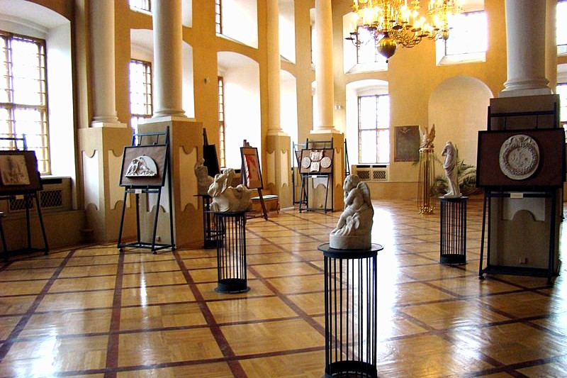 Exhibits at the Museum of Urban Sculpture in St Petersburg, Russia