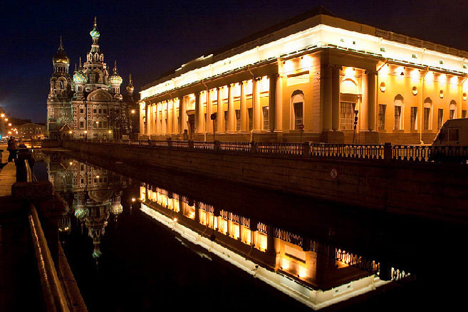 Blood and the russian museum (benois wing) of st. petersburg, russia