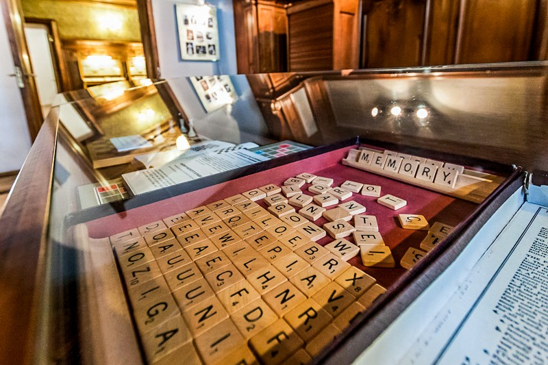 An edition of Scrabble belonging to Nabokov in Saint-Petersburg, Russia