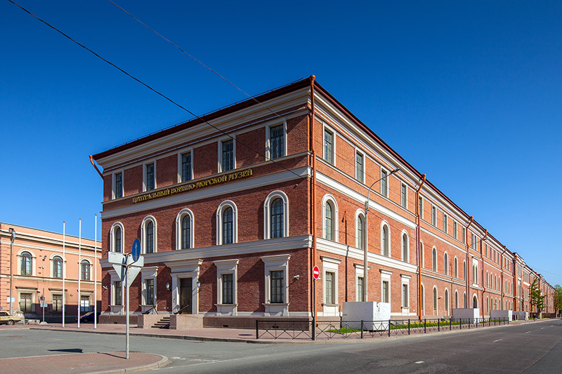 Former building of the Royal Naval Guards Crew (new building of the Naval Museum) in St Petersburg, Russia