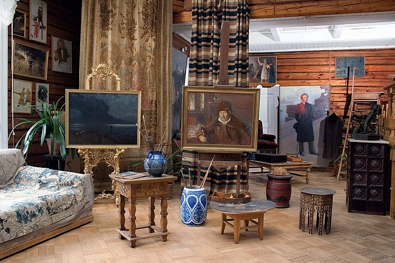 Exhibit at Penaty, artist Ilya Repin's estate near St Petersburg, Russia