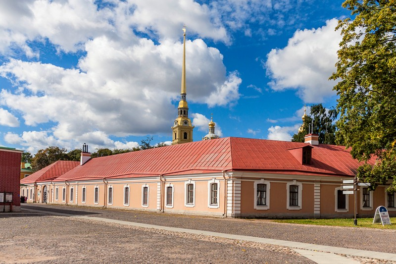Engineering House at the Peter and Paul Fortress in St Petersburg, Russia