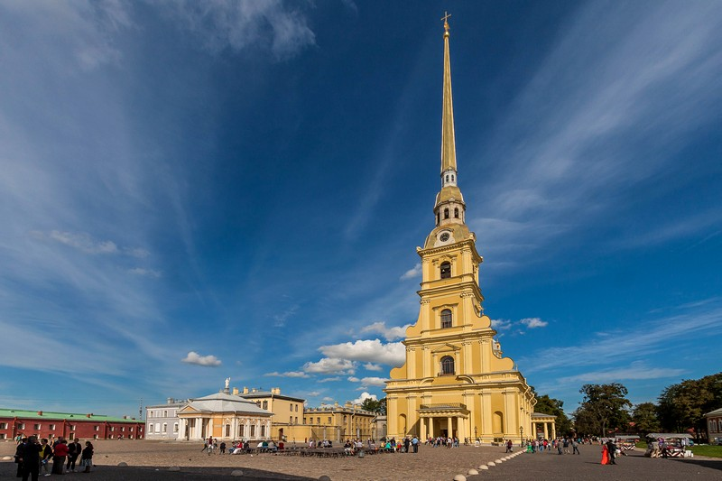 Ss. Peter and Paul Cathedral at the Peter and Paul Fortress in St Petersburg, Russia