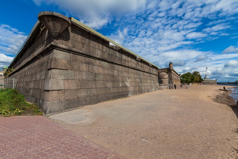 Trubetskoy Bastion at the Peter and Paul Fortress in St Petersburg, Russia