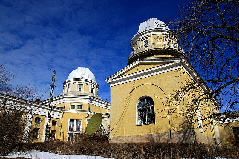 Buildings of Pulkovo Astronomical Observatory outside St. Petersburg, Russia