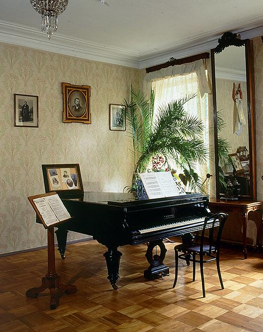 Composer Nikolay Rimsky Korsakov S Grand Piano In Saint Petersburg Russia