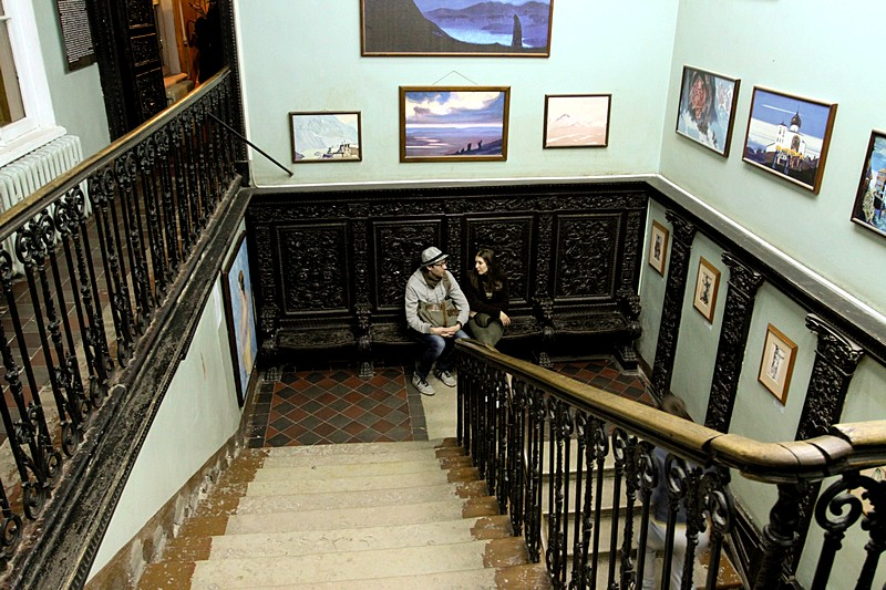 Inside Roerich Family Museum Institute in St Petersburg, Russia