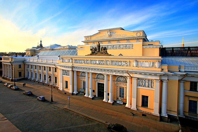 Imposing building of the Russian Ethnography Museum in St Petersburg, Russia