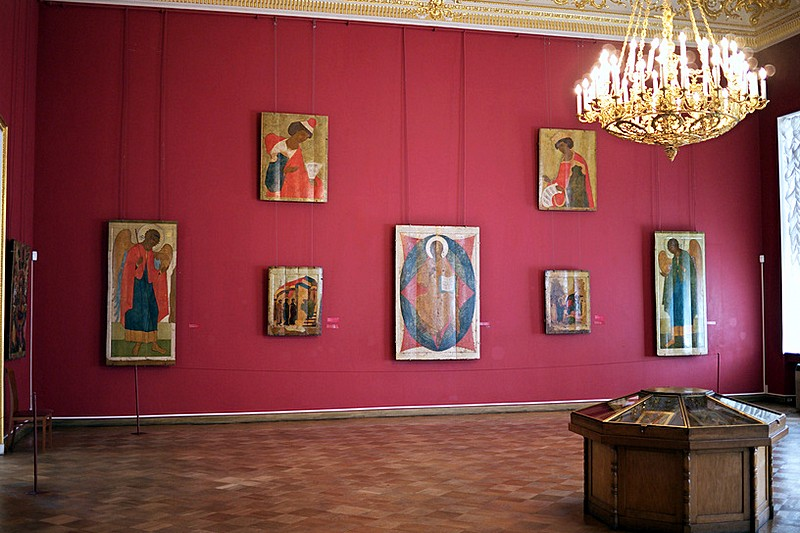 Ancient Icons in the Russian Museum in St Petersburg, Russia