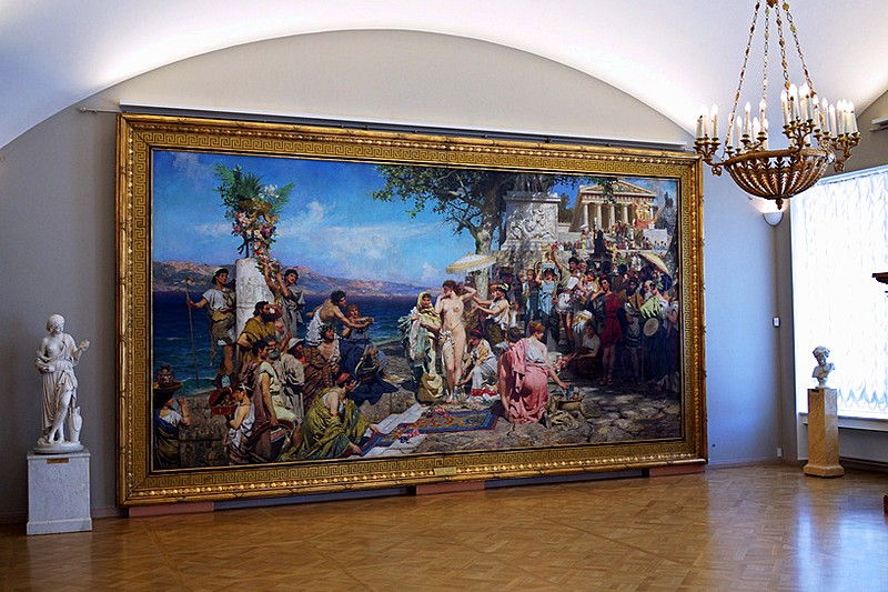 Masterpieces at the Russian Museum in Saint Petersburg, Russia