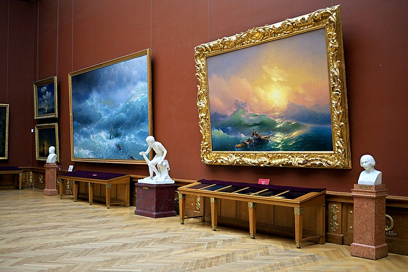 Masterpieces of the State Russian Museum in St Petersburg, Russia