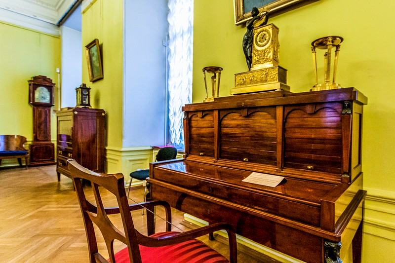 Furniture at the Marble Palace - a branch of the Russian Museum in St Petersburg, Russia