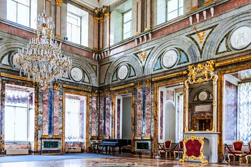 Marble Hall of the Marble Palace in Saint-Petersburg, Russia