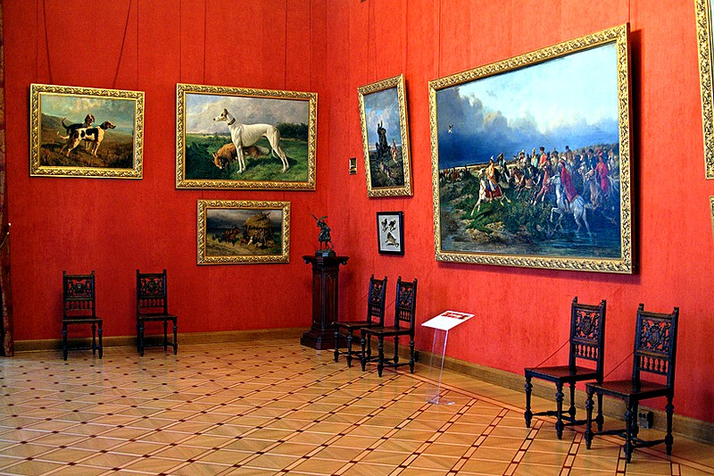 Picture gallery at the Stroganov Palace in St Petersburg, Russia