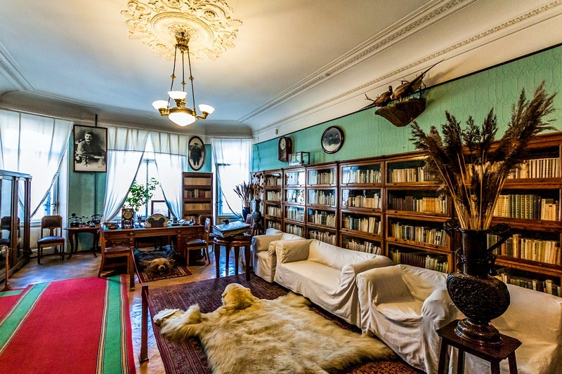 Sergey Kirov's study - the main room of the apartment-museum in St Petersburg, Russia
