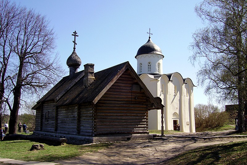 Old Russian churches of the Staraya Ladoga Historical, Architectural and Archeological Museum-Reserve in St Petersburg, Russia