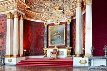 State Rooms in Winter Palace in St. Petersburg, Russia