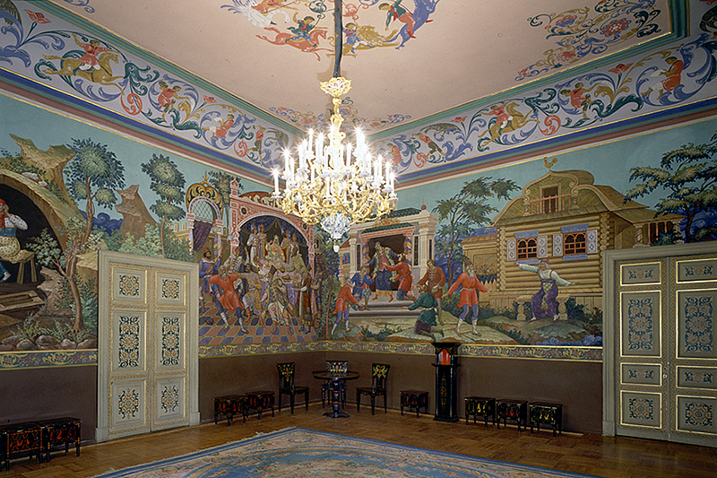 Interiors of Anichkov Palace in Saint Petersburg, Russia