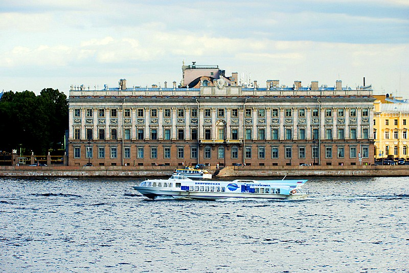 Marble Palace in St Petersburg Russia as seen from the Neva River